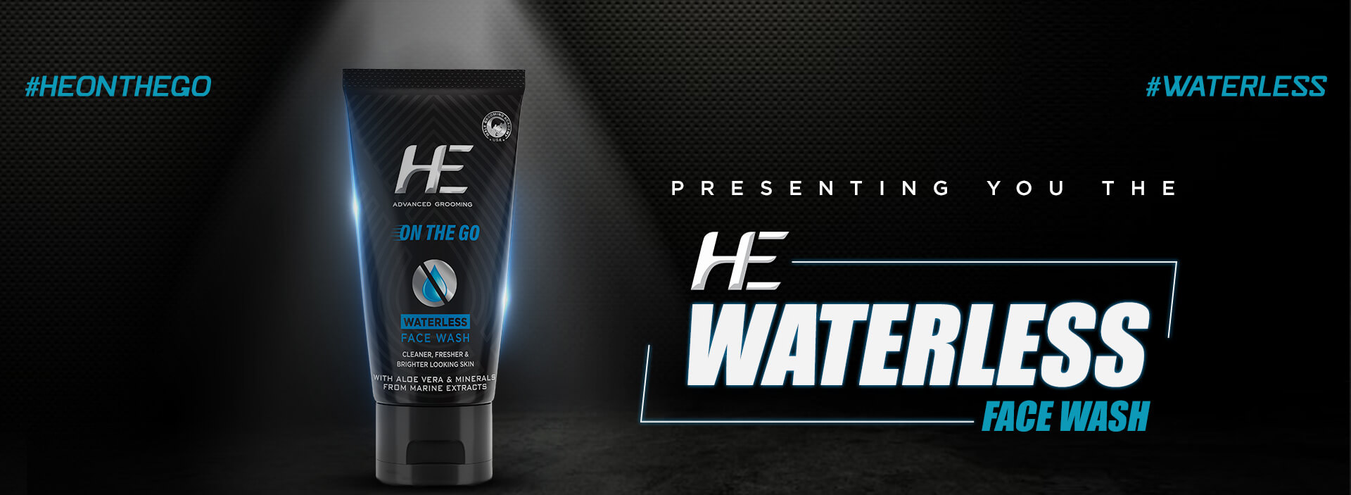 he waterless face wash for men