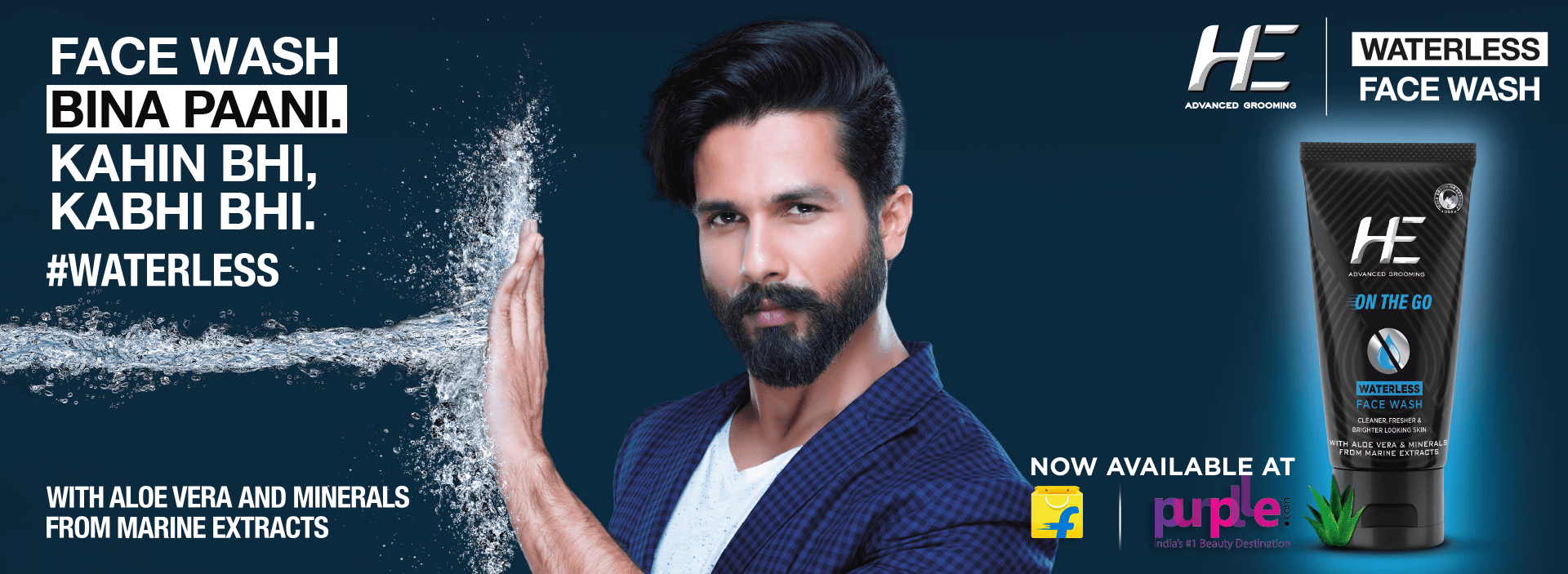 shahid kapoor he waterless facewash